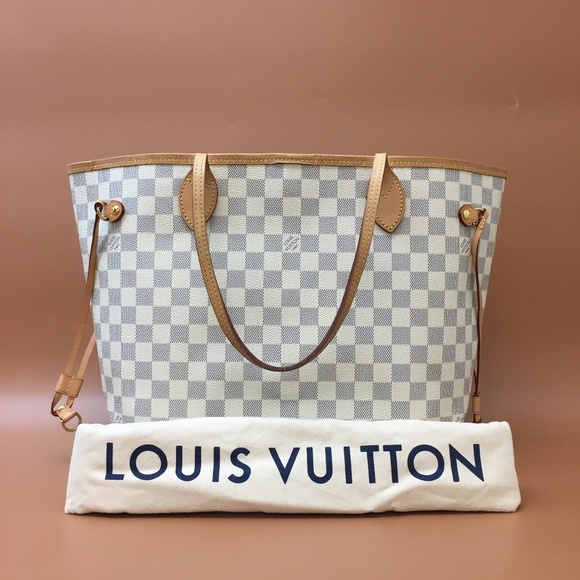 Louis Vuitton Neverfull MM Damier Azur Canvas Tote